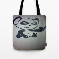 Panda With Attitude Tote Bag