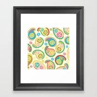 Veggie Paisley Framed Art Print