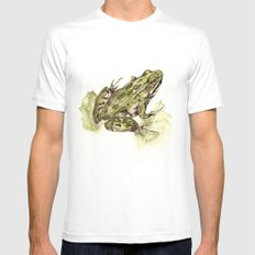 Northern Leopard Frog Mens Fitted Tee White SMALL