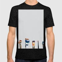 Brushes Mens Fitted Tee Tri-Black SMALL
