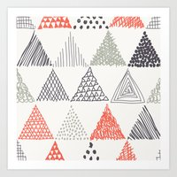 triangle Art Prints featuring Triangle by samedia