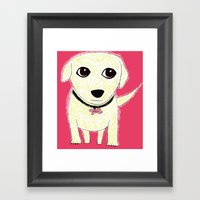 Bichon Bolognese Dog Framed Art Print