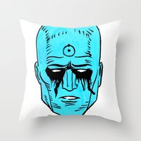 Sad Idiot Throw Pillow