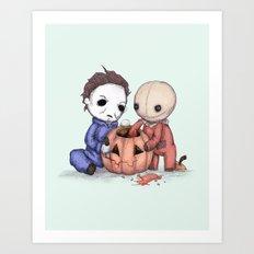 Halloween Helper Art Print