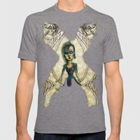 If You Dare Mens Fitted Tee Tri-Grey SMALL