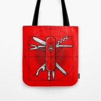 Vitruvian Swiss Knife Tote Bag