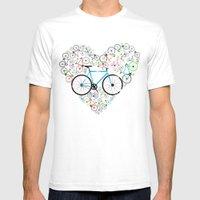 I Love My Bike Mens Fitted Tee White SMALL