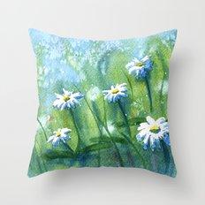 Daisies I Throw Pillow