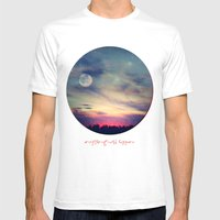 Anything could happen Mens Fitted Tee White SMALL