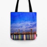 Harvard Bridge, colorful reflection Tote Bag