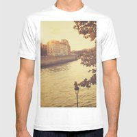 Paris sunset Mens Fitted Tee White SMALL