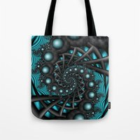 Cyber Wave Tote Bag