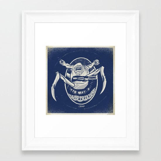 God Save the Thing Framed Art Print