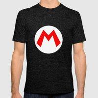 Nintendo Mario Mens Fitted Tee Tri-Black SMALL