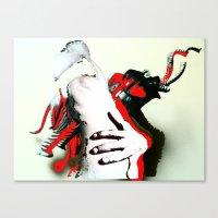 Elephant Naked Man Canvas Print