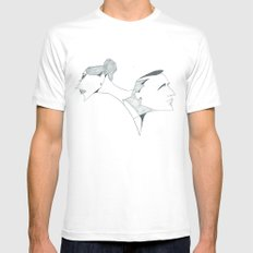 the 60's White SMALL Mens Fitted Tee
