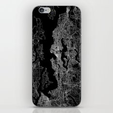 Seattle map iPhone & iPod Skin
