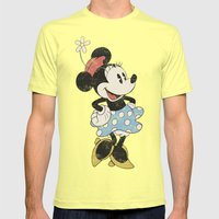 Minnie Mouse Mens Fitted Tee Lemon SMALL