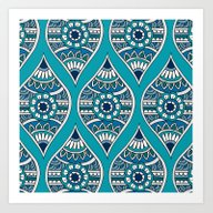 Morocco In Teal Art Print
