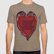 heart beat Mens Fitted Tee Tri-Coffee SMALL