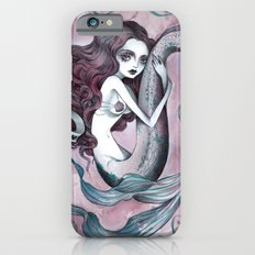Mermaid hearts (pink and teal) Slim Case iPhone 6s