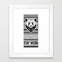 Stay Weird - Oldschool Framed Art Print