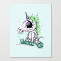 Skelecorn Canvas Print