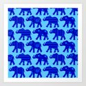 Baby Elephant Parade Art Print