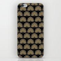 Tan & Black Daisies iPhone & iPod Skin