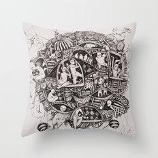Free flight Throw Pillow