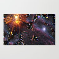 Triangles Space Canvas Print