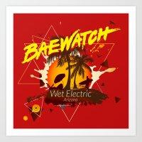 Baewatch - Wet Electric Art Print