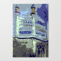 royal pavilion, abstract Canvas Print