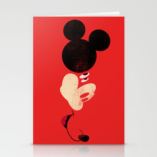 Deconstructing Mickey Stationery Card