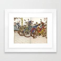 Bike Mess Framed Art Print