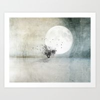 Only The Moon Knows Art Print