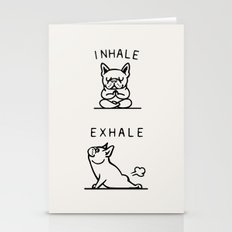 Inhale Exhale Frenchie Stationery Cards