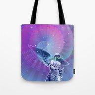 Tote Bag featuring Angel Moon by Alexander Studio