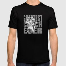GREATEST CATCH EVER Black SMALL Mens Fitted Tee