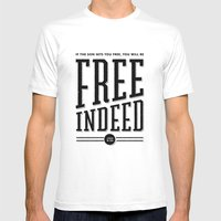 Free Indeed - Photo Mens Fitted Tee White SMALL