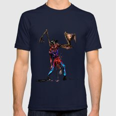 Zombie Mens Fitted Tee Navy SMALL