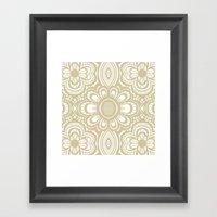 Lace Floral Sand On Ivor… Framed Art Print