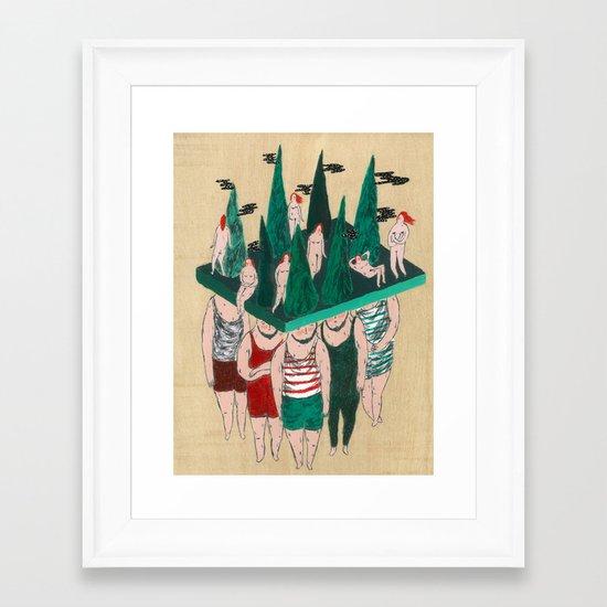 gnomes Framed Art Print