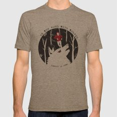 Sterek: He Who Runs With Wolves Mens Fitted Tee Tri-Coffee SMALL