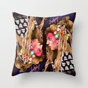 Neon Artpop Throw Pillow