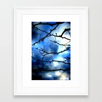 Framed Art Print featuring Storm Warning by Shawn King