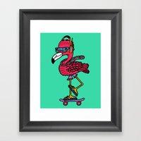 Party Pushin' Framed Art Print