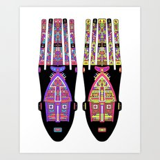 Psychedelic Tribe Art Print