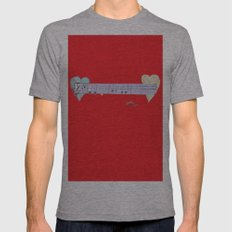 Music Love Mens Fitted Tee Athletic Grey SMALL