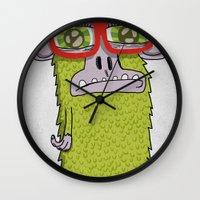 005_monkey glasses Wall Clock